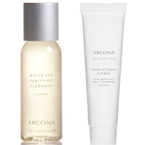 ARCONA White Tea Cleanser and Cranberry Gommage & Four O'Clock Flower (Free Gift)