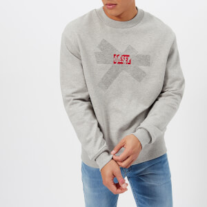 Diesel Men's Bay Sweatshirt - Light Grey Melange