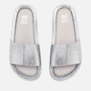 Mini Melissa Kids' Beach Slide Sandals - Silver Glitter