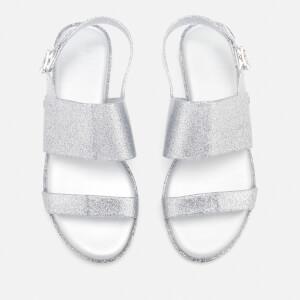 Melissa Women's Classy 19 Flat Sandals - Silver Glitter