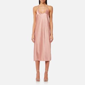 T by Alexander Wang Women's Wash & Go Woven Racerback Slip Dress - Guava