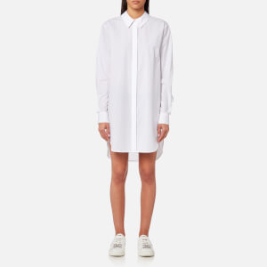 T by Alexander Wang Women's Washed Cotton Poplin Shirt with Shirt Ties - White