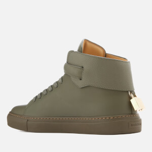 Buscemi Men's 100mm Clean Buckle Trainers - Military: Image 4