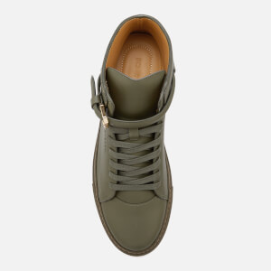 Buscemi Men's 100mm Clean Buckle Trainers - Military: Image 3