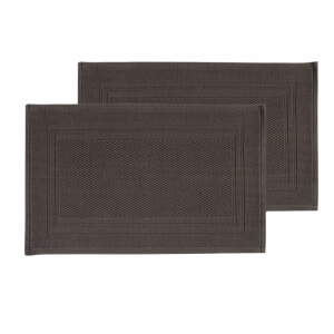 Christy Fina Bath Mat - Set of 2 - Soot