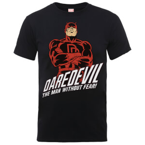 Marvel Comics Daredevil The Man Without Fear Men's Black T-Shirt