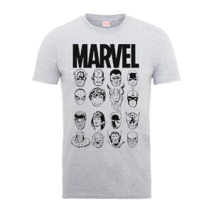 T-Shirt Homme Têtes Multiples - Marvel - Gris