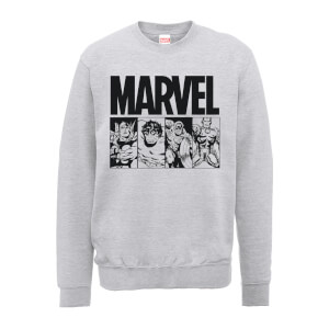 Marvel Comics Action Tiles Men's Grey Sweatshirt