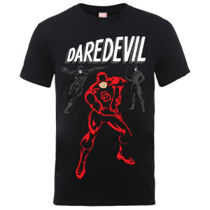Marvel Comics Daredevil Poses Men's Black T-Shirt