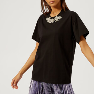 Christopher Kane Women's Crystal T-Shirt - Black