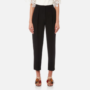 See By Chloé Women's Fluid Drill Trousers - Black