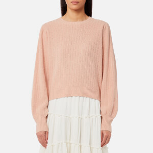 See By Chloé Women's Knitted Lace Jumper - Cameo Rose