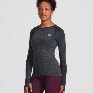 S - Seamless Long Sleeve Top - Black