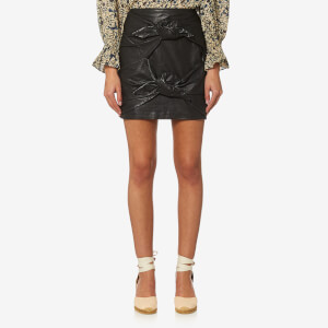 Isabel Marant Etoile Women's Gritanny Leather Skirt - Black