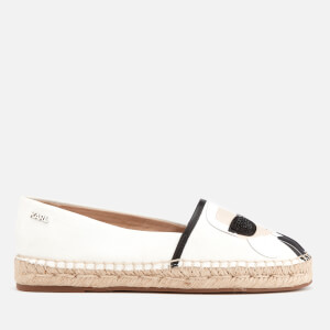 Karl Lagerfeld Women's Kamini Karl Ikonic Leather Espadrilles - White