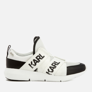 Karl Lagerfeld Women's Vitesse Legere Strap Mesh Runner Trainers - Black Leather/White
