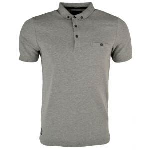 Dissident Men's Dalwood Polo Shirt - Mid Grey Marl