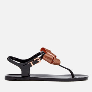 Ted Baker Women's Camaril Toe Post Sandals - Black