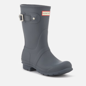 Hunter Women's Original Short Wellies - Dark Slate: Image 2