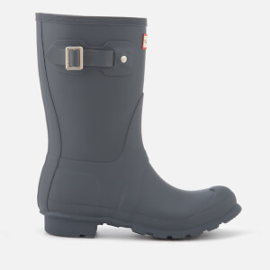 Hunter Women's Original Short Wellies - Dark Slate: Image 1