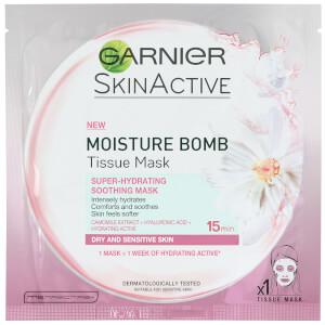 Garnier Moisture Bomb Tissue Mask (Super-Hydrating Soothing Mask)