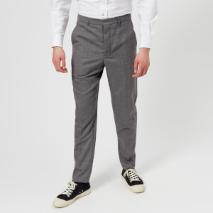AMI Men's Carrot Fit Trousers - Heather Grey
