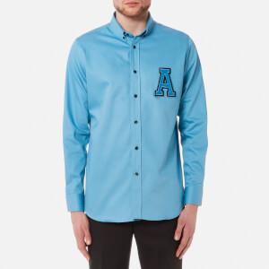 AMI Men's A Logo Shirt - Sky Blue