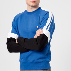 AMI Men's Tricolour Sweatshirt - Bleu Roi