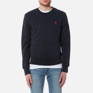 AMI Men's Heart Logo Sweatshirt - Navy