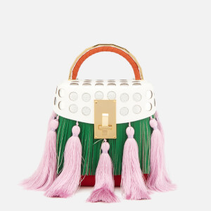 The Volon Women's Box Tassel Bag - Green