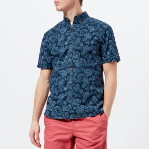 Joules Men's Lloyd Short Sleeve Shirt - Blue Indi Floral