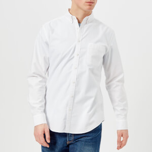 Joules Men's Laundered Oxford Long Sleeve Shirt - White