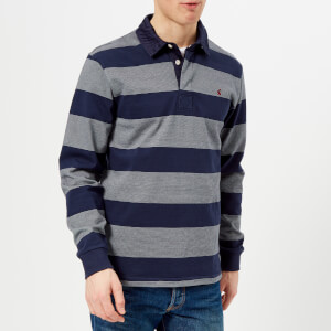 Joules Men's Onside Striped Rugby Shirt - French Navy Stripe