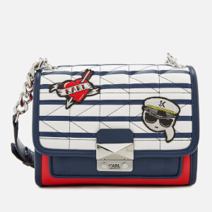 Karl Lagerfeld Women's Captain Karl Strap Mini Handbag - Stripes