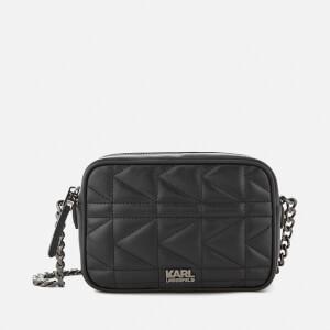 Karl Lagerfeld Women's K/Kuilted Cross Body Bag - Black/Gun metal