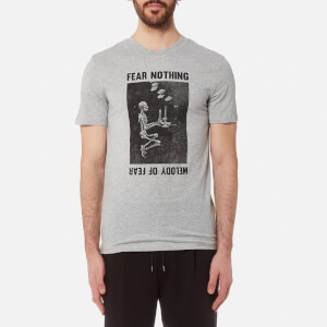 McQ Alexander McQueen Men's Short Sleeve Fear Nothing T-Shirt - Grey Melange