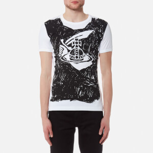Vivienne Westwood Anglomania Men's Classic Scribble T-Shirt - White
