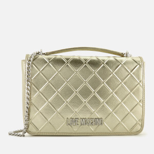 Love Moschino Women's Quilted Shoulder Bag - Gold