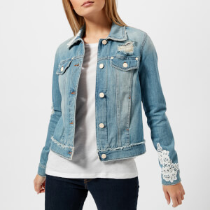 Love Moschino Women's Embellished Denim Jacket - Blue