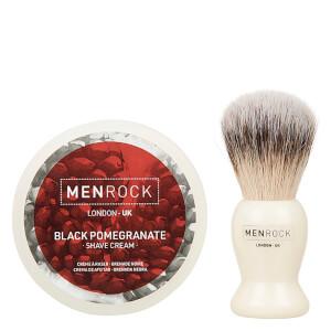 Men Rock The Life Shaver (Black Pomegranate Shave Cream, The Brush): Image 3