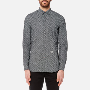 Diesel Men's Dunes Printed Long Sleeve Shirt - Black