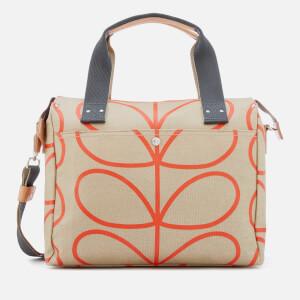 Orla Kiely Women's Matt Laminated Giant Linear Stem Zip Messenger Bag - Stone