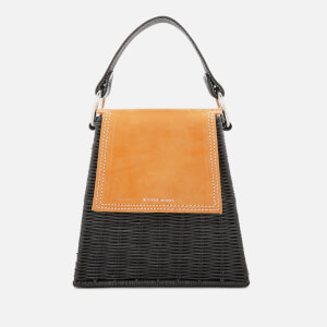 Wicker Wings Women's Tall Tixing Wicker Bag - Yellow/Black