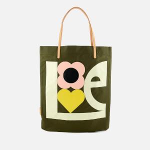 Orla Kiely Women's Love Print Applique Nylon Tote Bag - Khaki