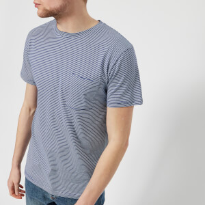 A.P.C. Men's Laurent Stripe T-Shirt - Bleu Fonce