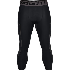 Under Armour Men's HG Armour Graphic 3/4 Leggings - Black