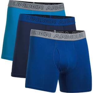 Under Armour Men's 3 Pack Charged Cotton 6 Inch Boxerjock - Blue