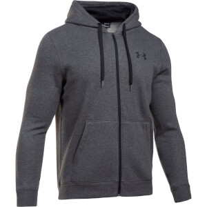 Under Armour Men's Rival Fitted Full Zip Hoody - Grey