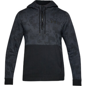 Under Armour Men's Threadborne 1/2 Zip Hoody - Black