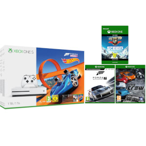 Xbox One S 1TB with Forza Horizon 3 Hot Wheels Bonus Bundle with Forza 7, Steep and The Crew